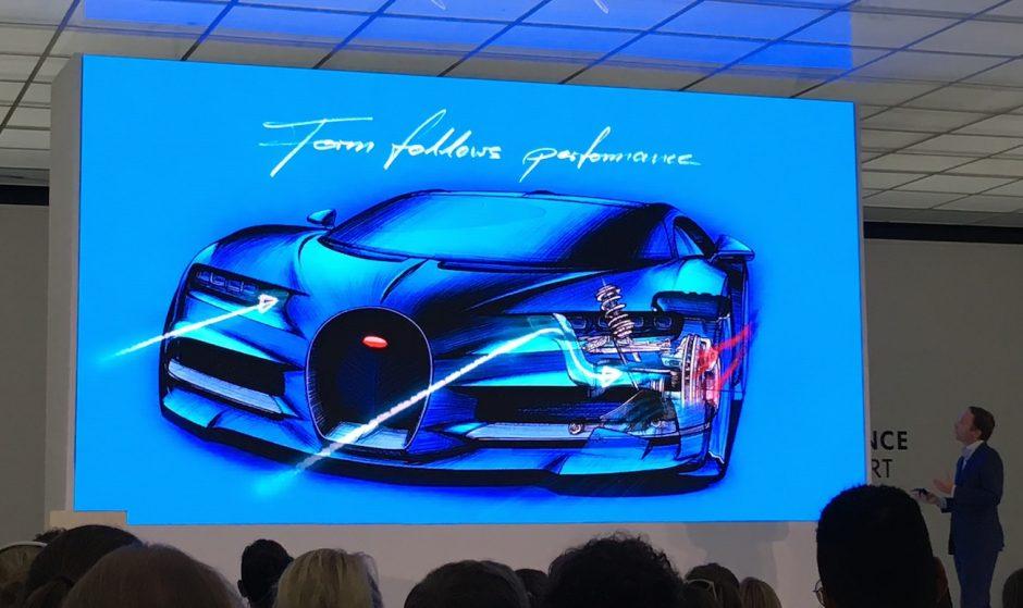 Mit viel Liebe zum Detail beschrieb Frank Heyl, Leiter Exterieur Design bei Bugatti, den neuen Charon