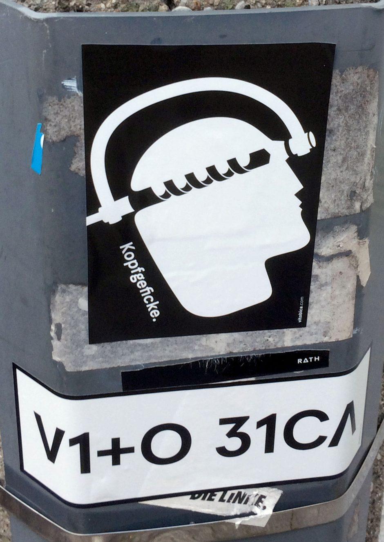 Kopfgeficke/ VITO BICA Sticker, Berlin 2015