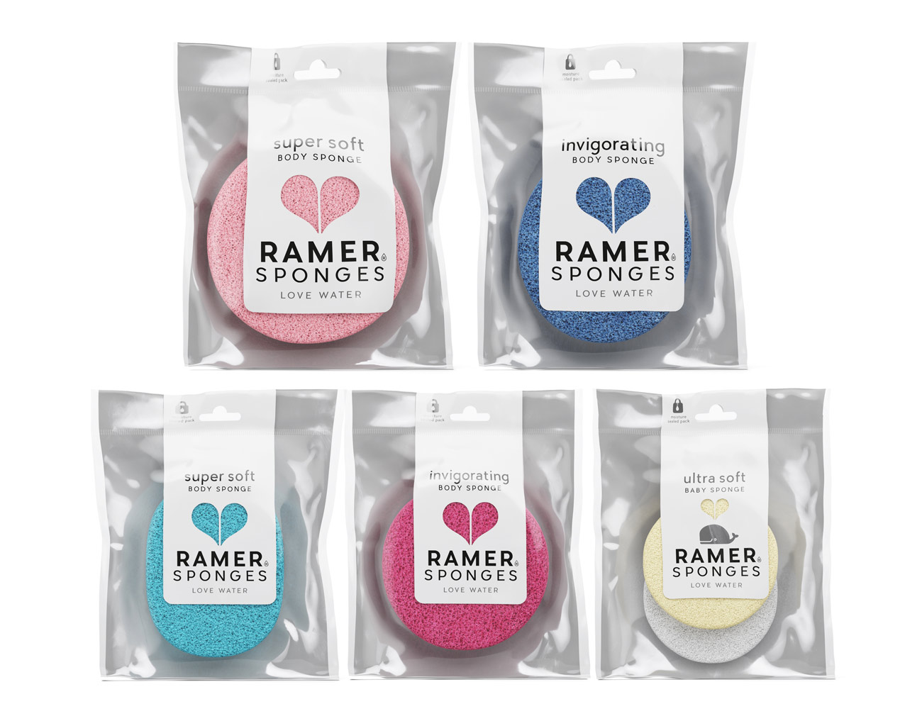Packaging Design für Ramer Sponges