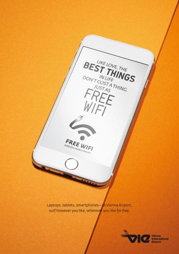 Visual für Bildschirme und Plakate: Free WiFi