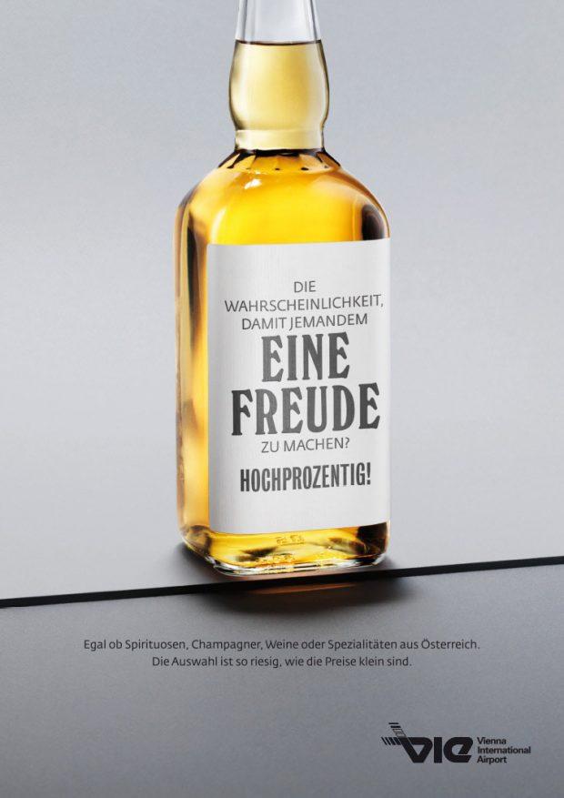Visual für Bildschirme und Plakate: Wein & Spirituosen