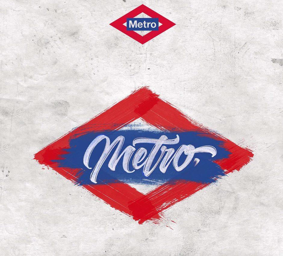 Lettering Logo »Metro«