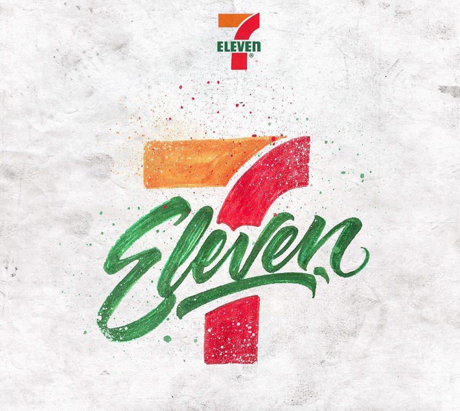 Lettering Logo »7 Eleven«