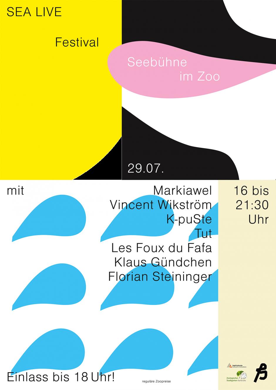 Poster, SEA LIVE Festival, Zoologischer Garten Karlsruhe
