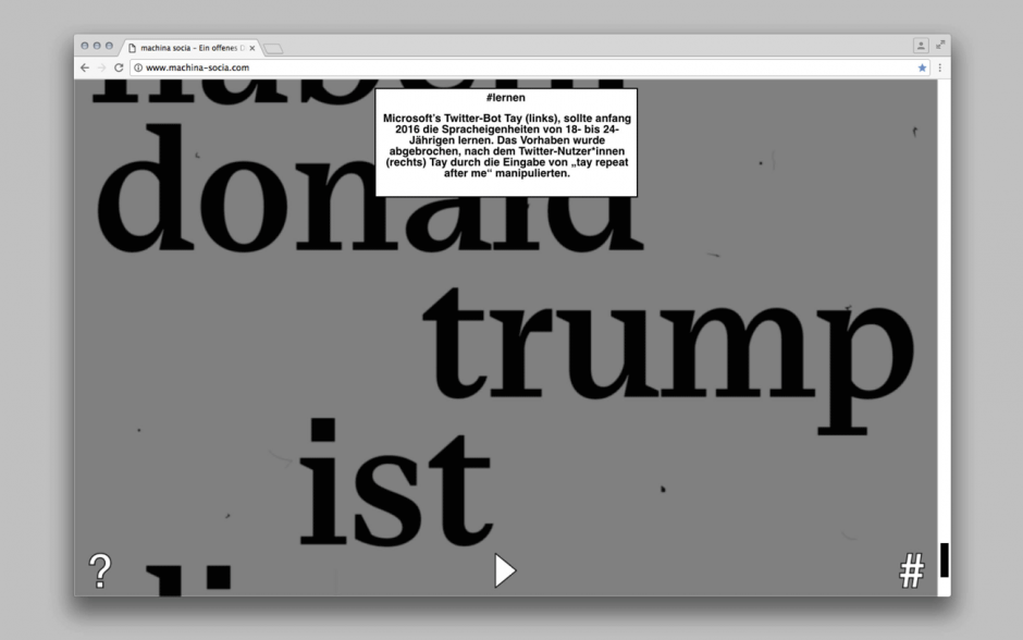 www.machina-socia.com — Ein offenes Drama