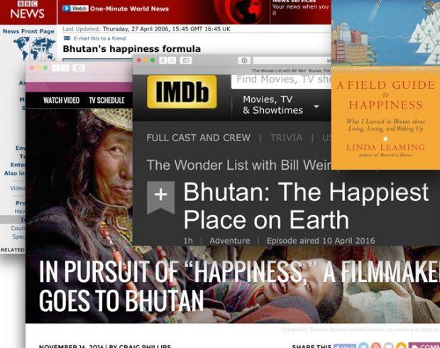 Bhutan's Außenwerbung und Medienauftritte sind oft sehr eindimensional