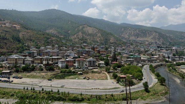 Thimphu, die Hauptstadt von Bhutan, in der die meisten Häuser weniger als 10 Jahre alt sind, verändert sich rasant
