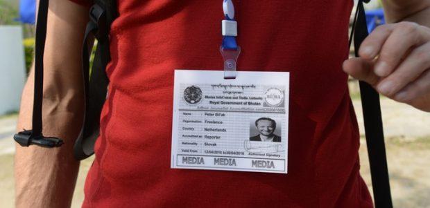 Bhutan's Presseausweis