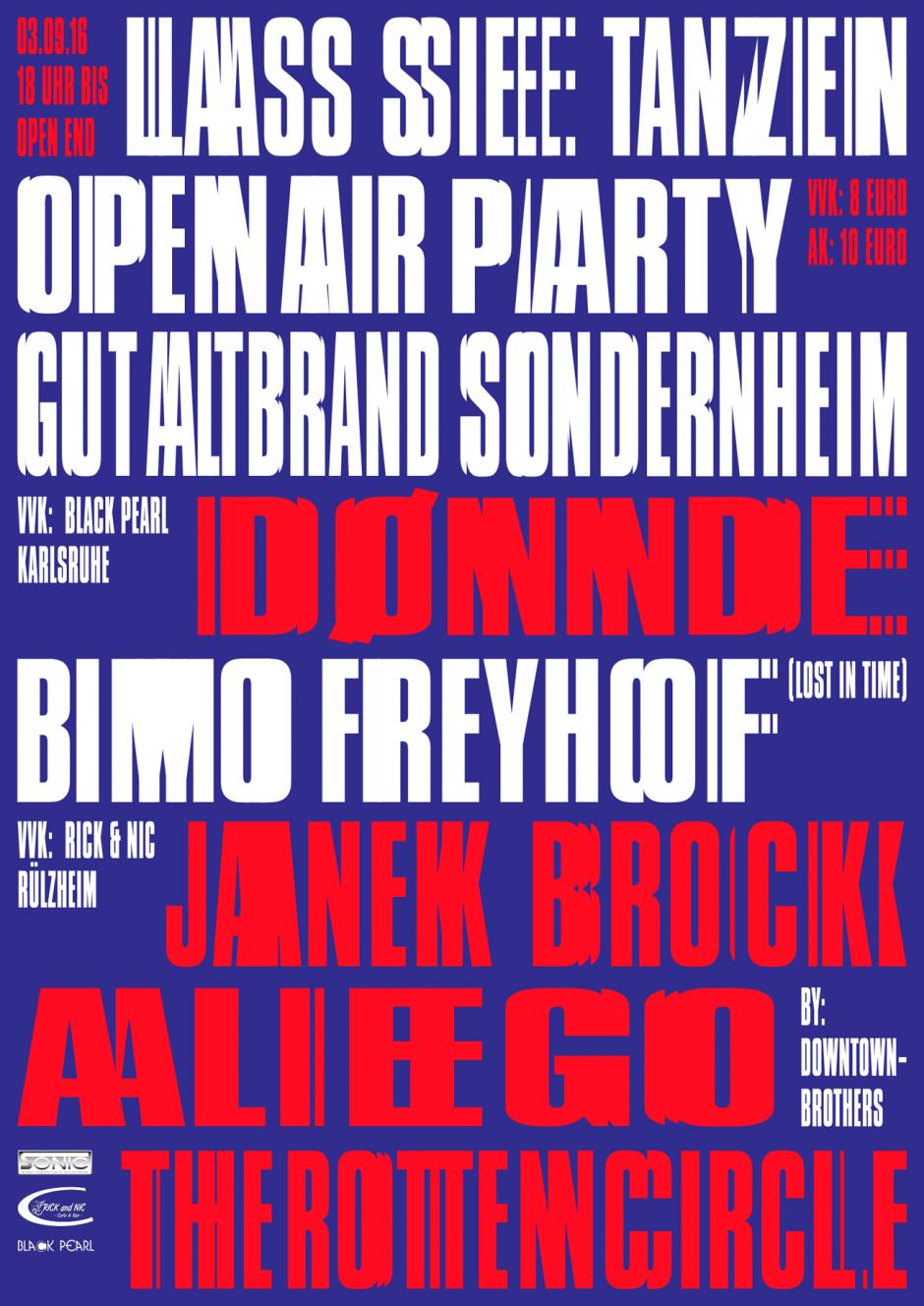 Poster für ein regionales Techno-Festival. Zusammenarbeit mit Steffen Hotel