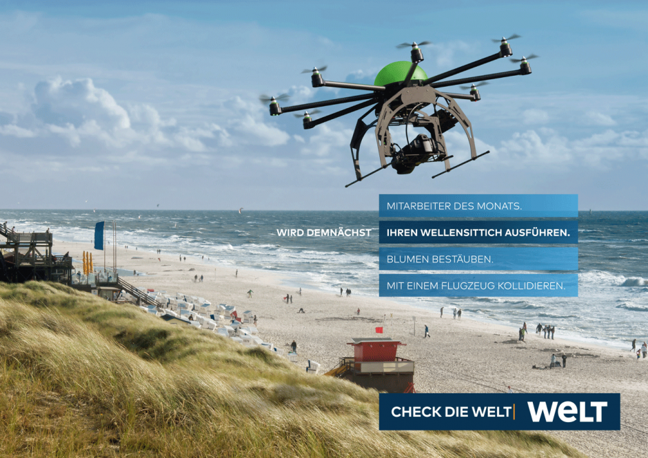 WELT-Kampagne: Motiv Drohne