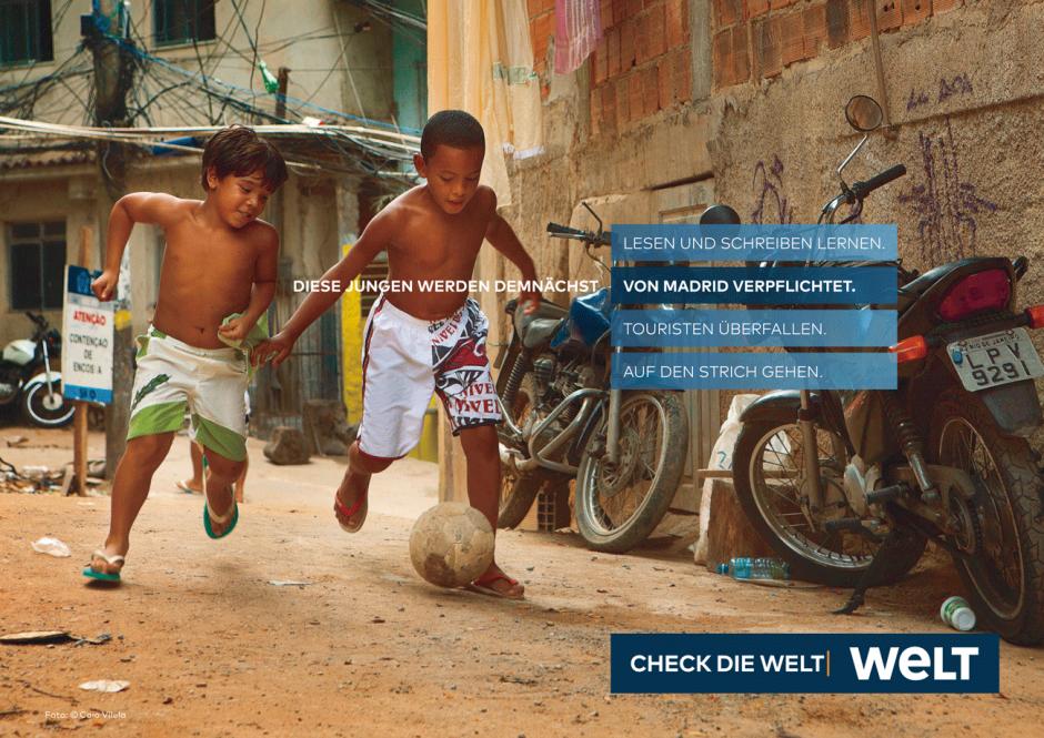 WELT-Kampagne: Motiv Fußball