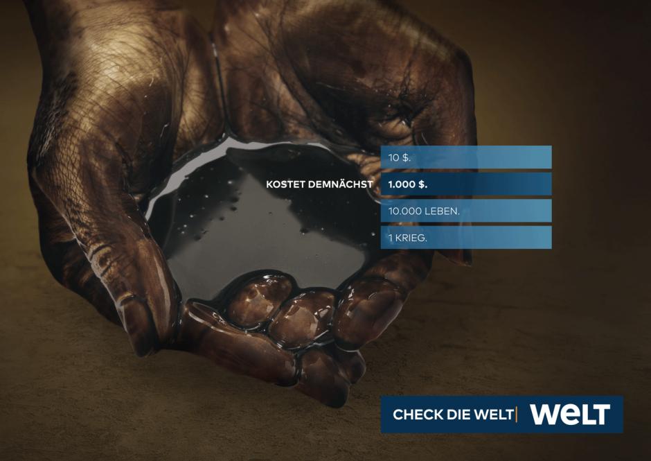 WELT-Kampagne: Motiv Öl-Hände