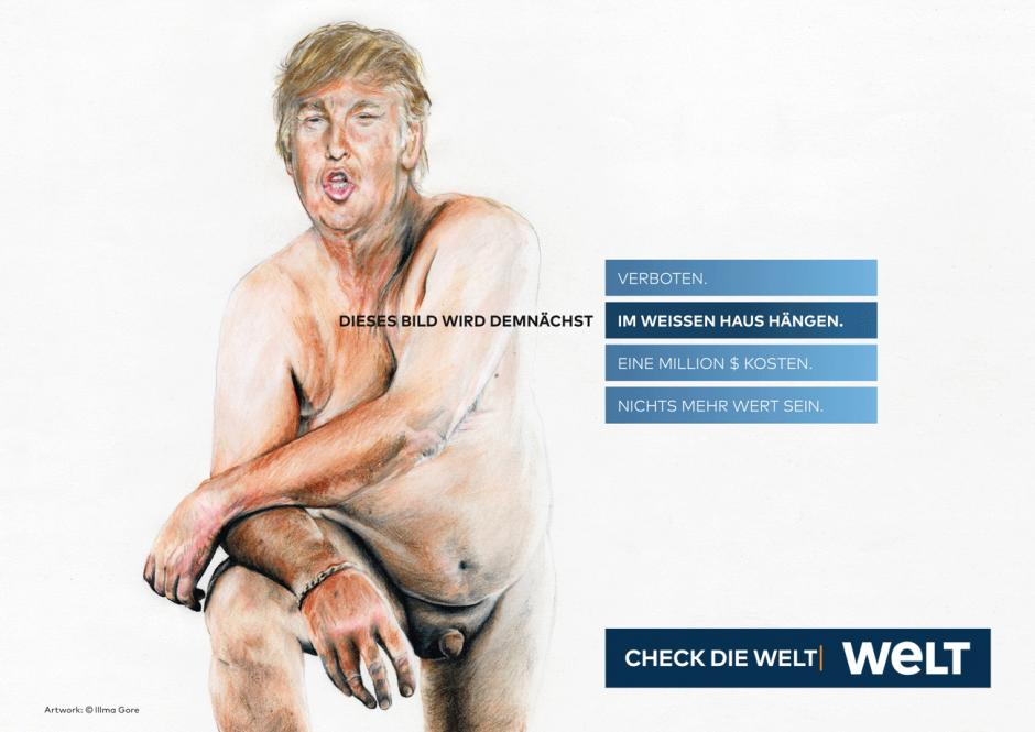 WELT-Kampagne: Motiv Trump