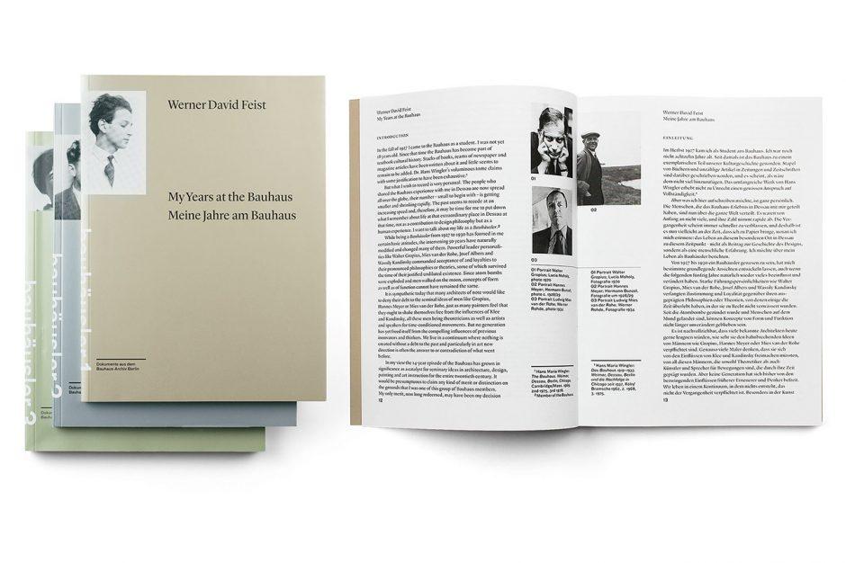 Laufende Publikationsreihe »Bauhäusler. Dokumente aus dem Bauhaus-Archiv Berlin«, Berlin 2012–2016, Auftraggeber: Bauhaus-Archiv Berlin, Sibylle Hoiman (Redaktion)