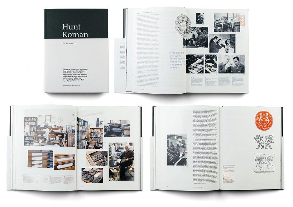 Diplomarbeit »Hunt Roman Genealogie« über die ungewöhnliche Schrift Hunt Roman von Hermann Zapf, Universität der Künste Berlin, 2012