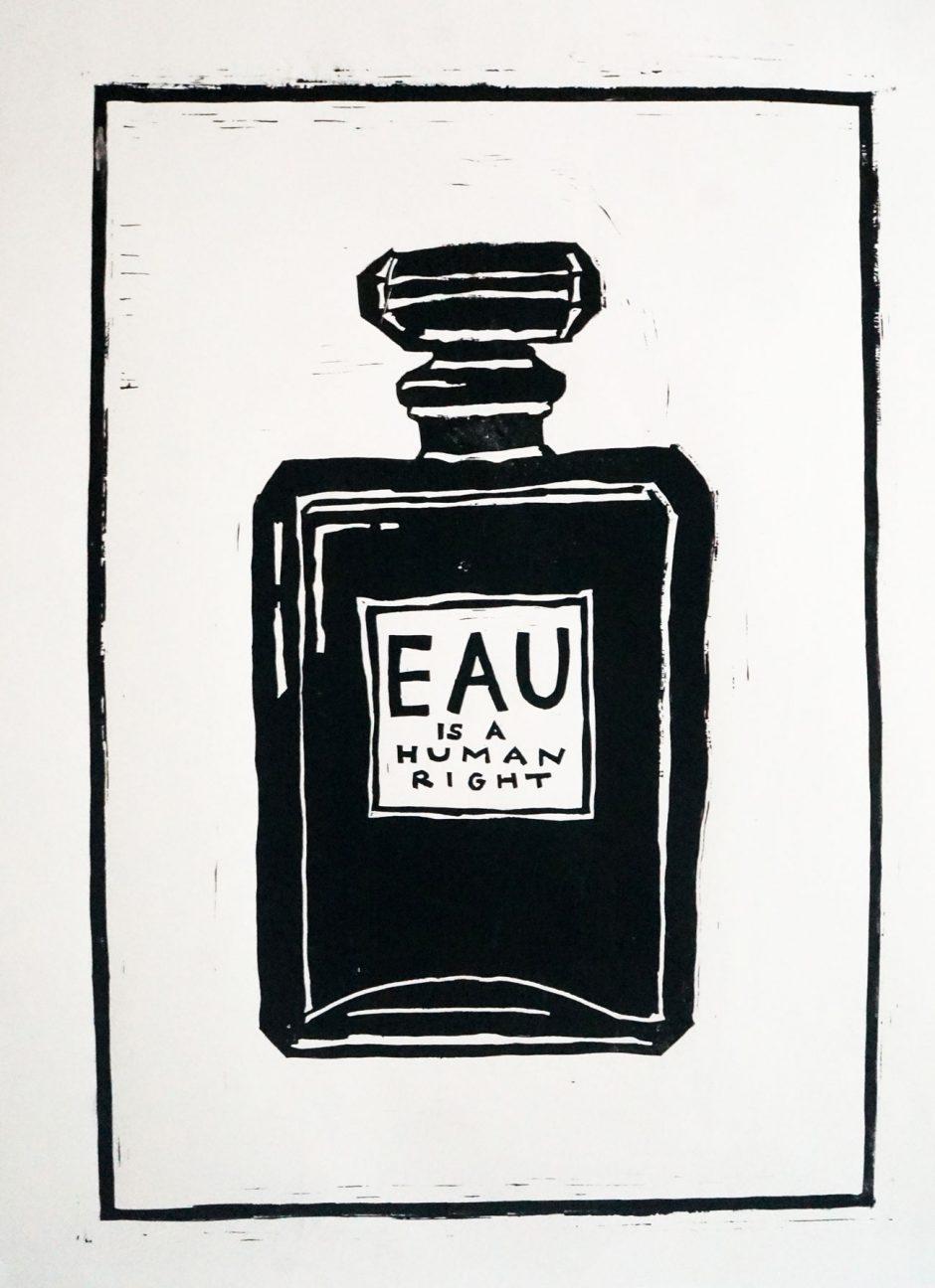Diese Plakate entstanden in einem viertägigen Workshop mit Eric Andersen bei dem es darum ging, in Anlehnung an das 1968 aktive »Atelier Populaire« ein eigenes politisches Plakat im Linolschnitt anzufertigen