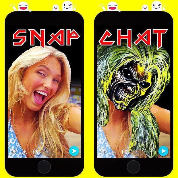 Snapchat vs Iron Maiden