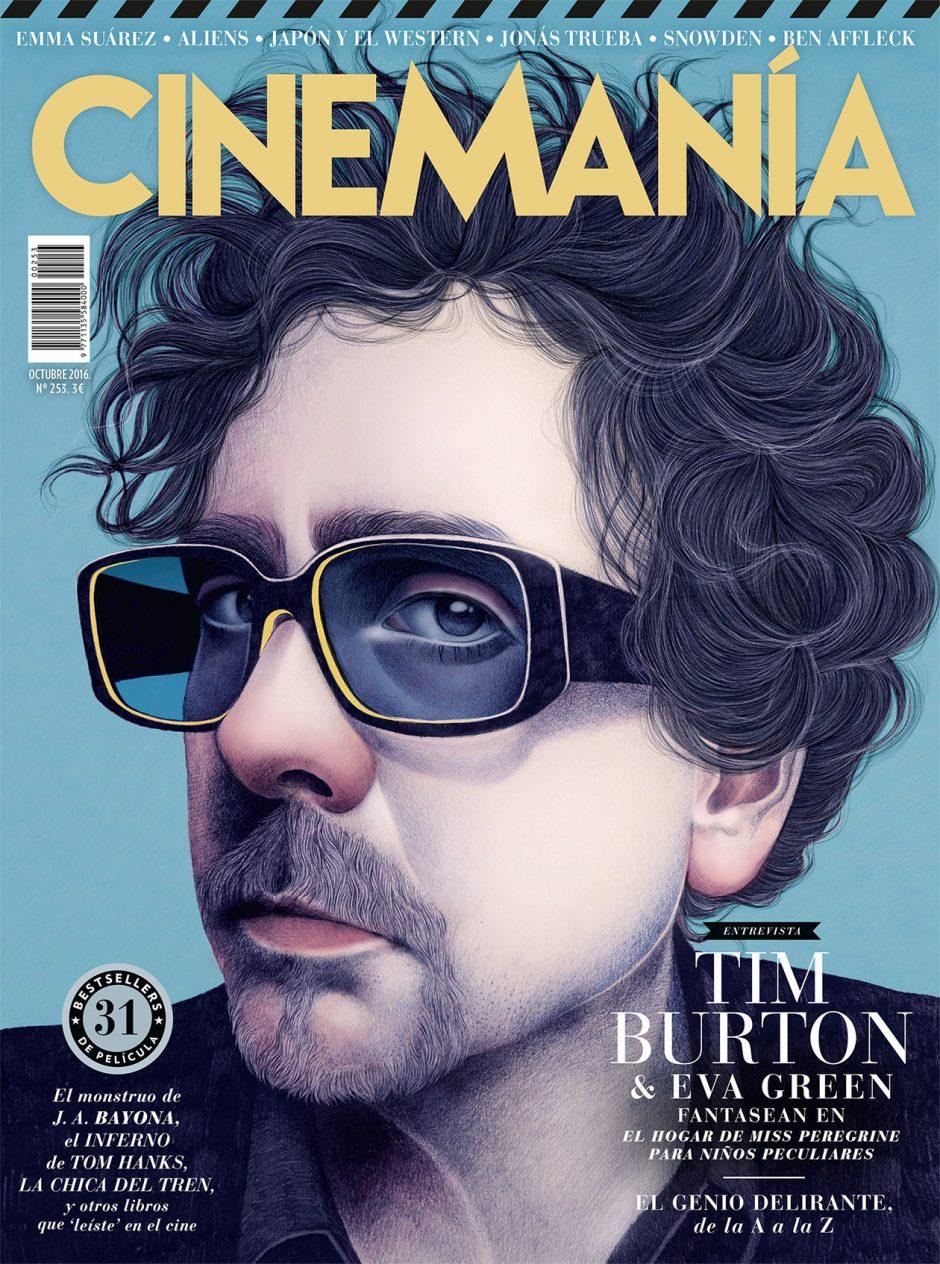 Einfach super, dieses Porträt des Kultregisseurs Tim Burton von Mercedes deBellard aus Madrid. http://cargocollective.com/mercedesdebellard
