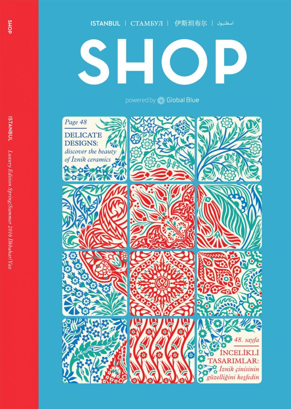 Sehr gut gefiel uns auch diese gekachelte Illustration der Muster-Spezialistin Yehrin Tong für die Istanbul-Ausgabe von »Shop«. www.yehrintong.com/