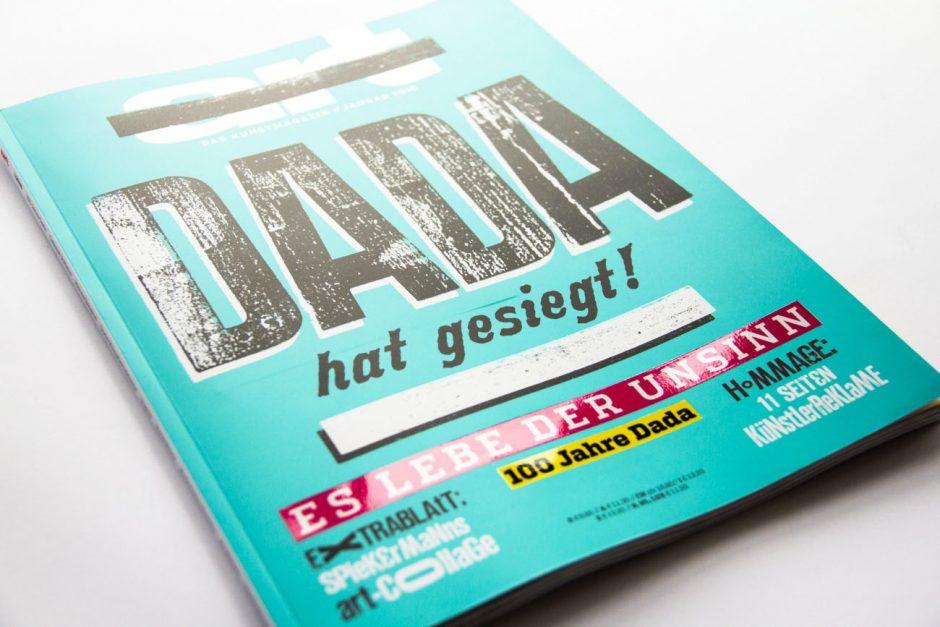 Coverkonzeption und Gestaltung für den DADA Schwerpunkt, Art Magazin Ausgabe 01/2015