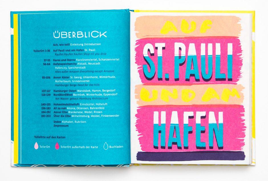 Hamburgs beste Läden und Adressen / Buchgestaltung, Text, Illustration, Junius Verlag, 2013