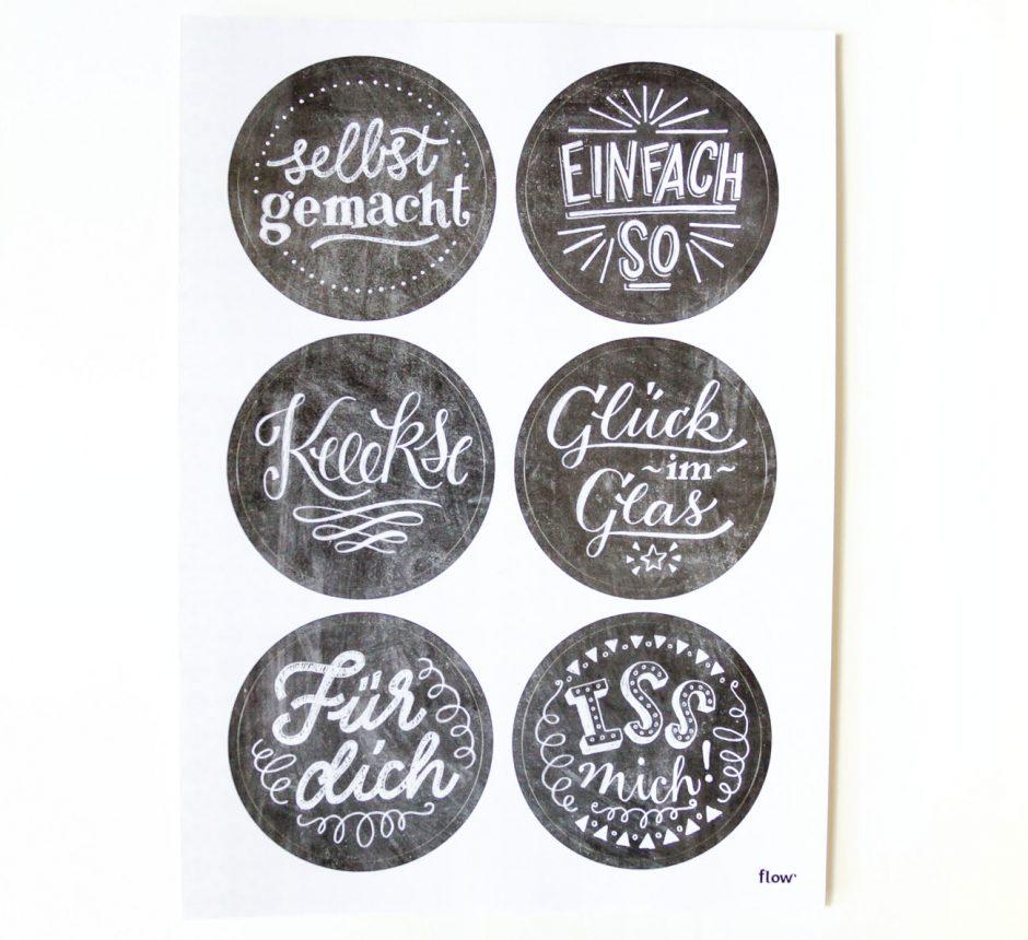 Chalkboard-Lettering Sticker für das Flow Food Special, 2016