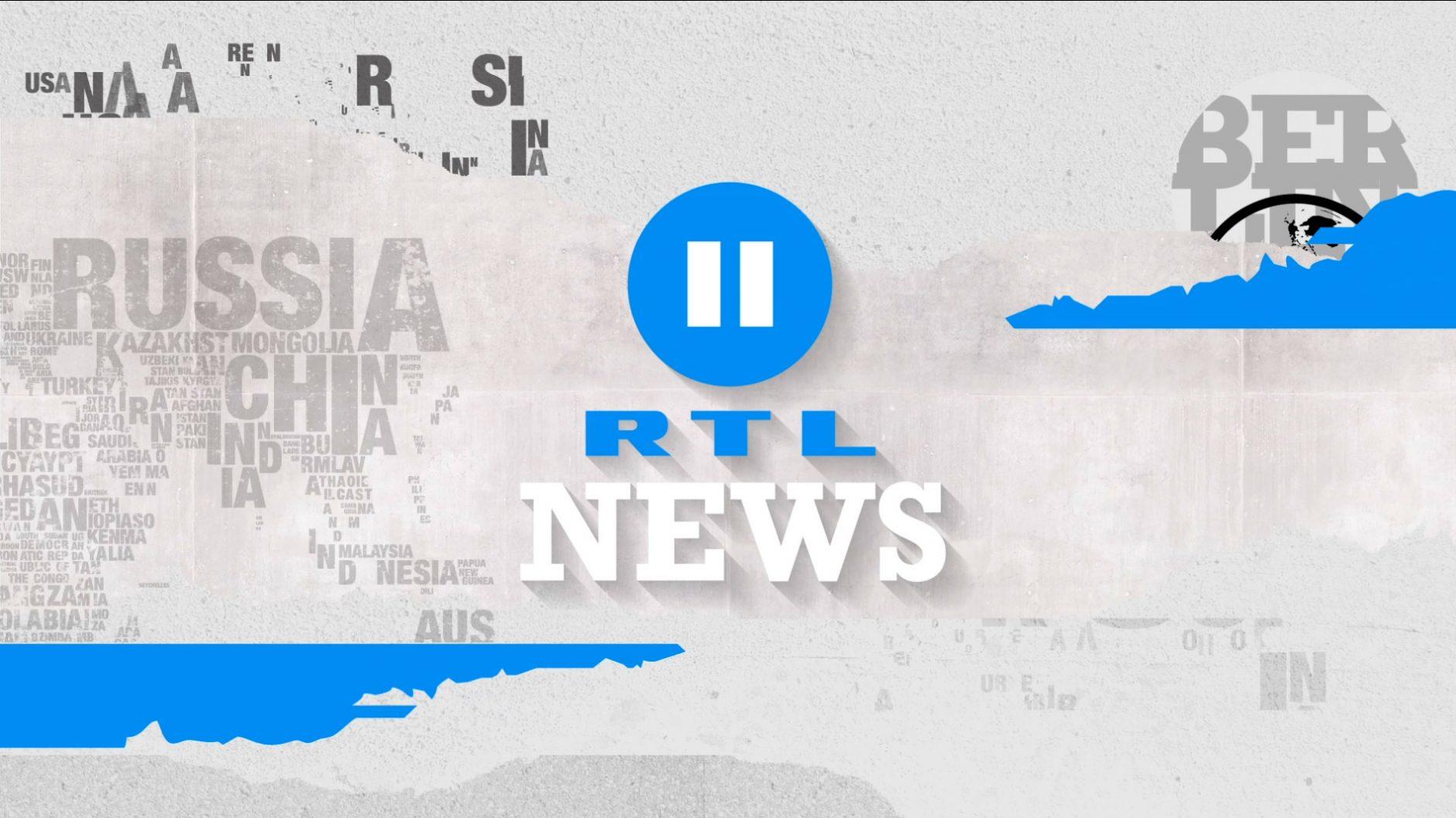 Klare Typografien und Icons in Schwarz-Weiß, gebrochen durch die CI-Farbe Azur - das zeichnet das Newsdesign von RTL 2 aus