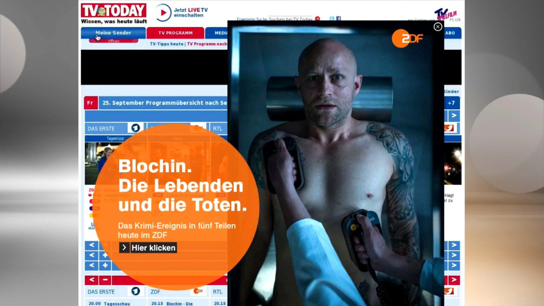 Jürgen Vogel wiederbeleben oder Klappen im Leichenschauhaus öffnen: die gruselige Online-Werbung für Blochin von KNSK