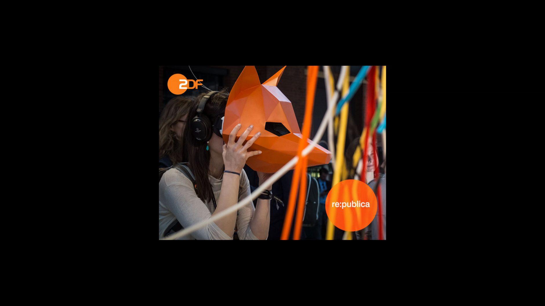 Das ZDF war auf der re:publica sehr präsent - mit VR-Brillen, QR-Codes und NFC. Dabei half die Hamburger Digitalagentur Nest One