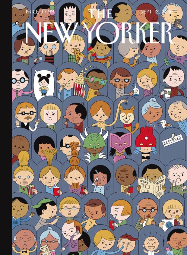 »At the Movies« des Cartoonisten und Comic-Zeichners Ivan Brunetti aus Chicago – es ist nicht das erste Wimmelbild, das er als Cover für »The New Yorker« zeichnet