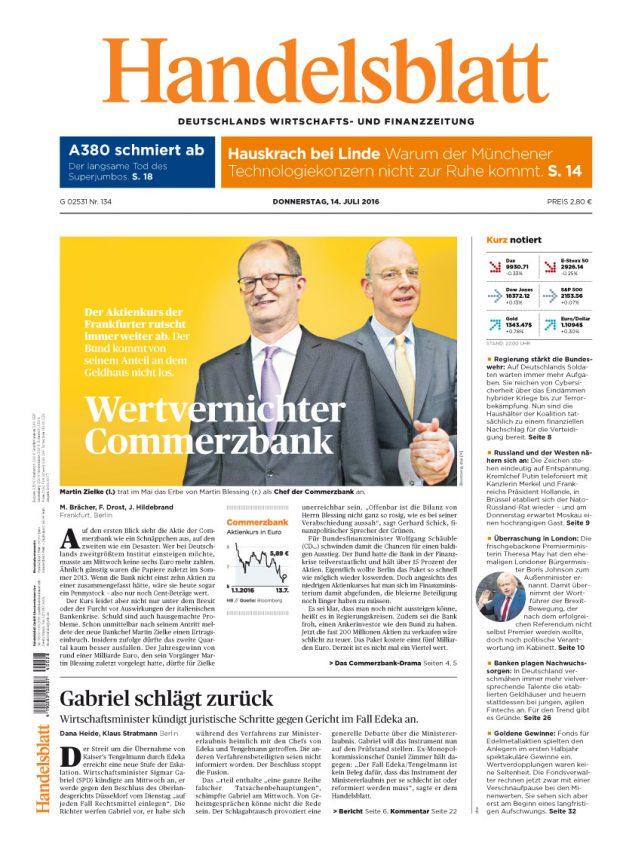 Silber: Handelsblatt, Verlag Handelsblatt