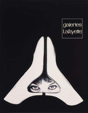Jean Widmer, Galeries Lafayette, unveröffentlichtes Werbeinserat, 1959, Museum für Gestaltung Zürich, Grafiksammlung