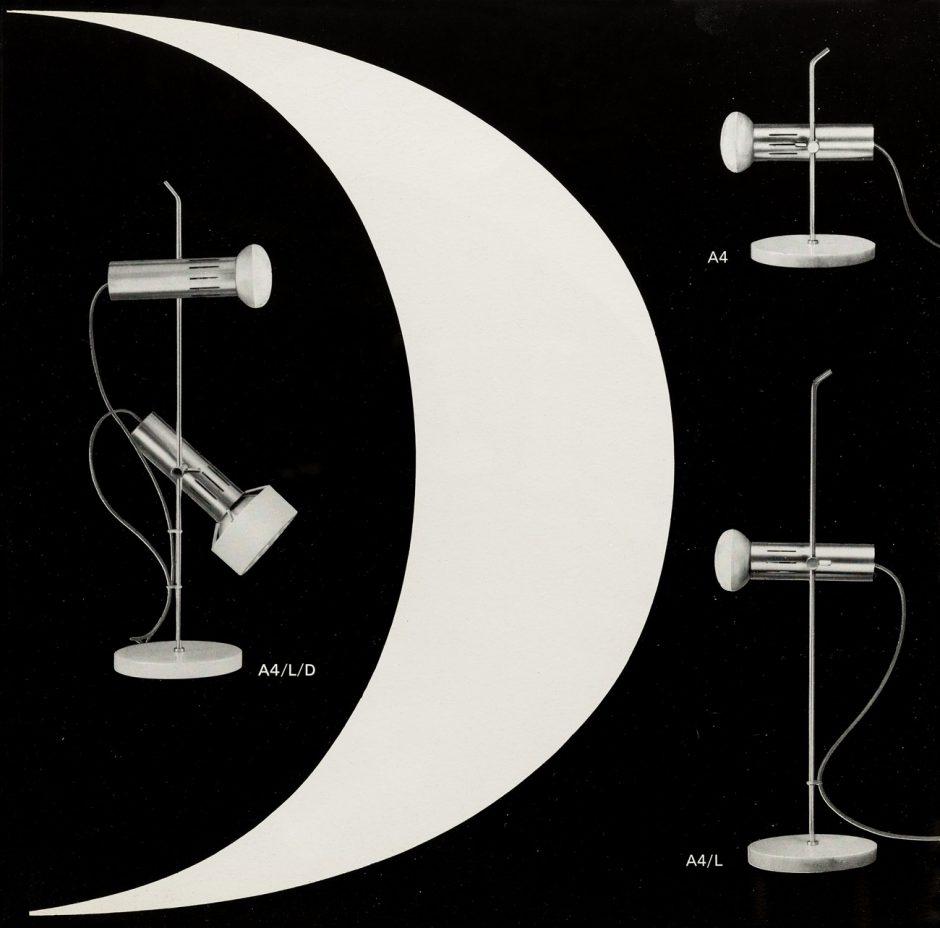 Bruno Pfäffli, Pierre Disderot Luminaires, Einzelseite aus Werbeprospekt, 1965-1968, Museum für Gestaltung Zürich, Grafiksammlung