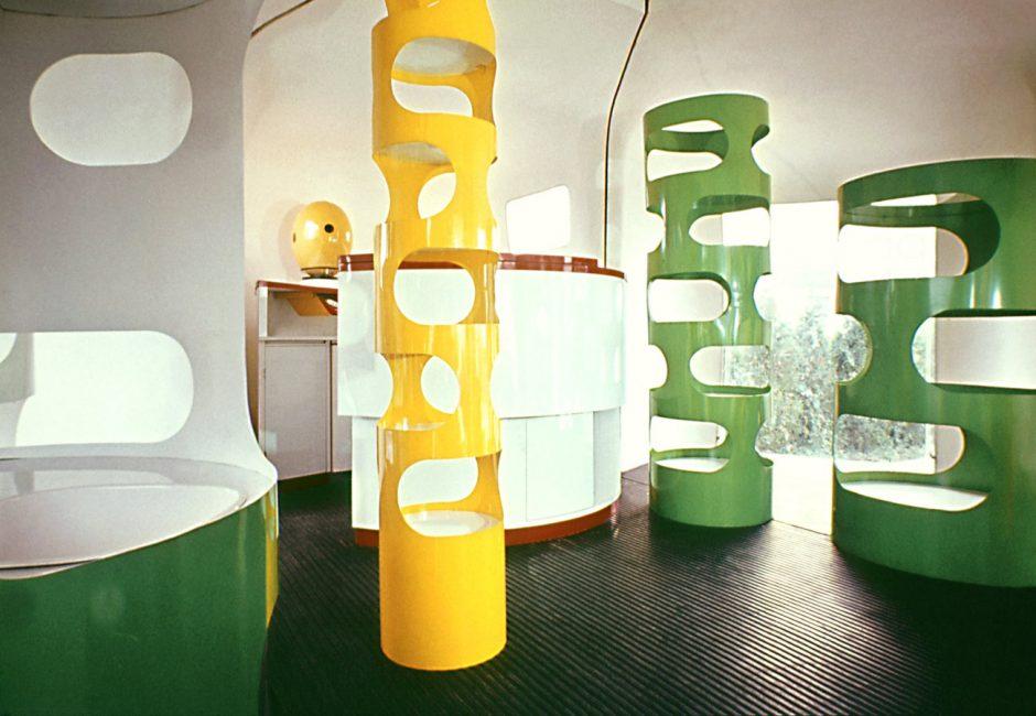 Gérard Ifert (Konzept), Rudi Meyer (Konzept und Möbel), fahrbarer Vorführladen von Prisunic, 1967, Museum für Gestaltung Zürich, Grafiksammlung
