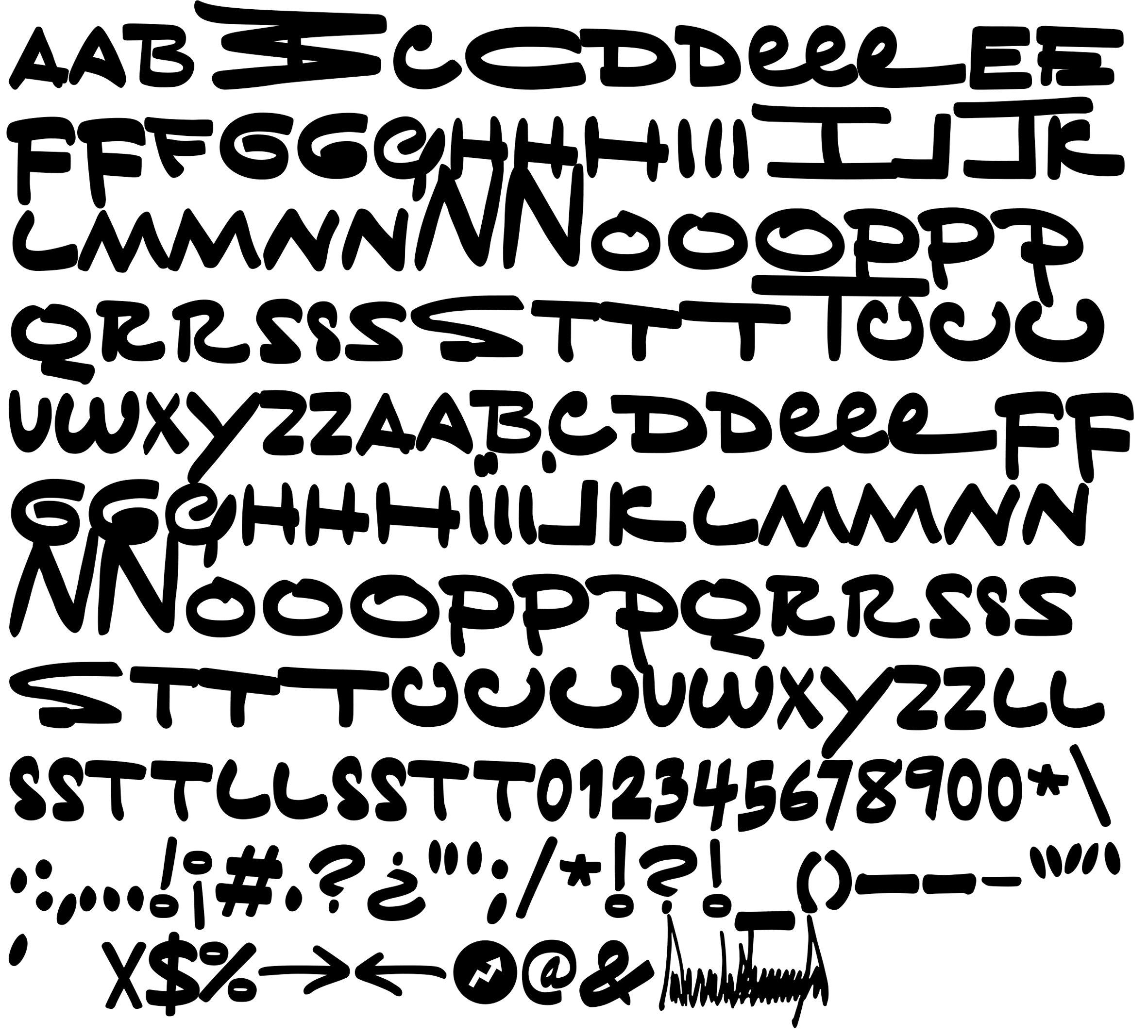 Tiny Hand Typeface