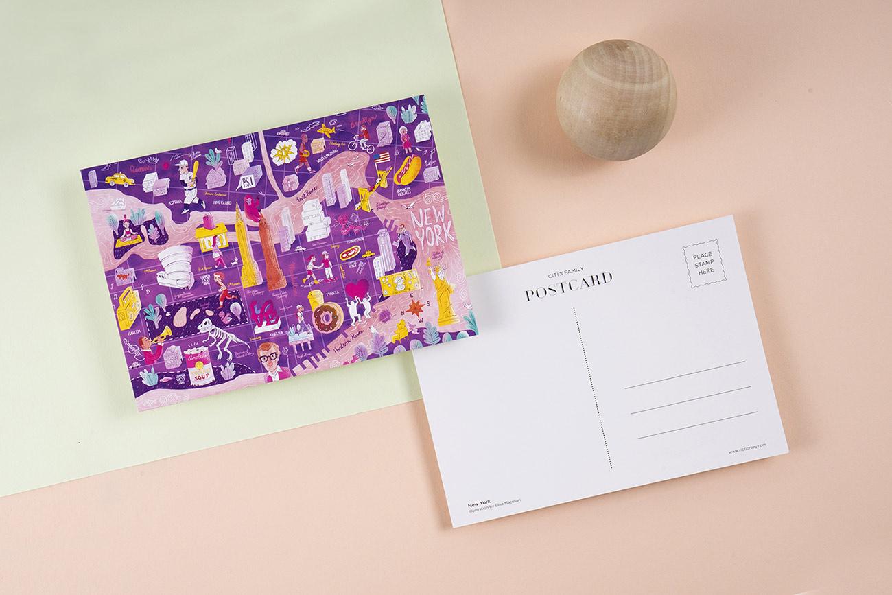 Angesagte Illustratoren sorgen für den Kinder und Erwachsene ansprechenden Look der neuen Reiseführer-Reihe »CITIxFamily«. Hier war es Elisa Macellari