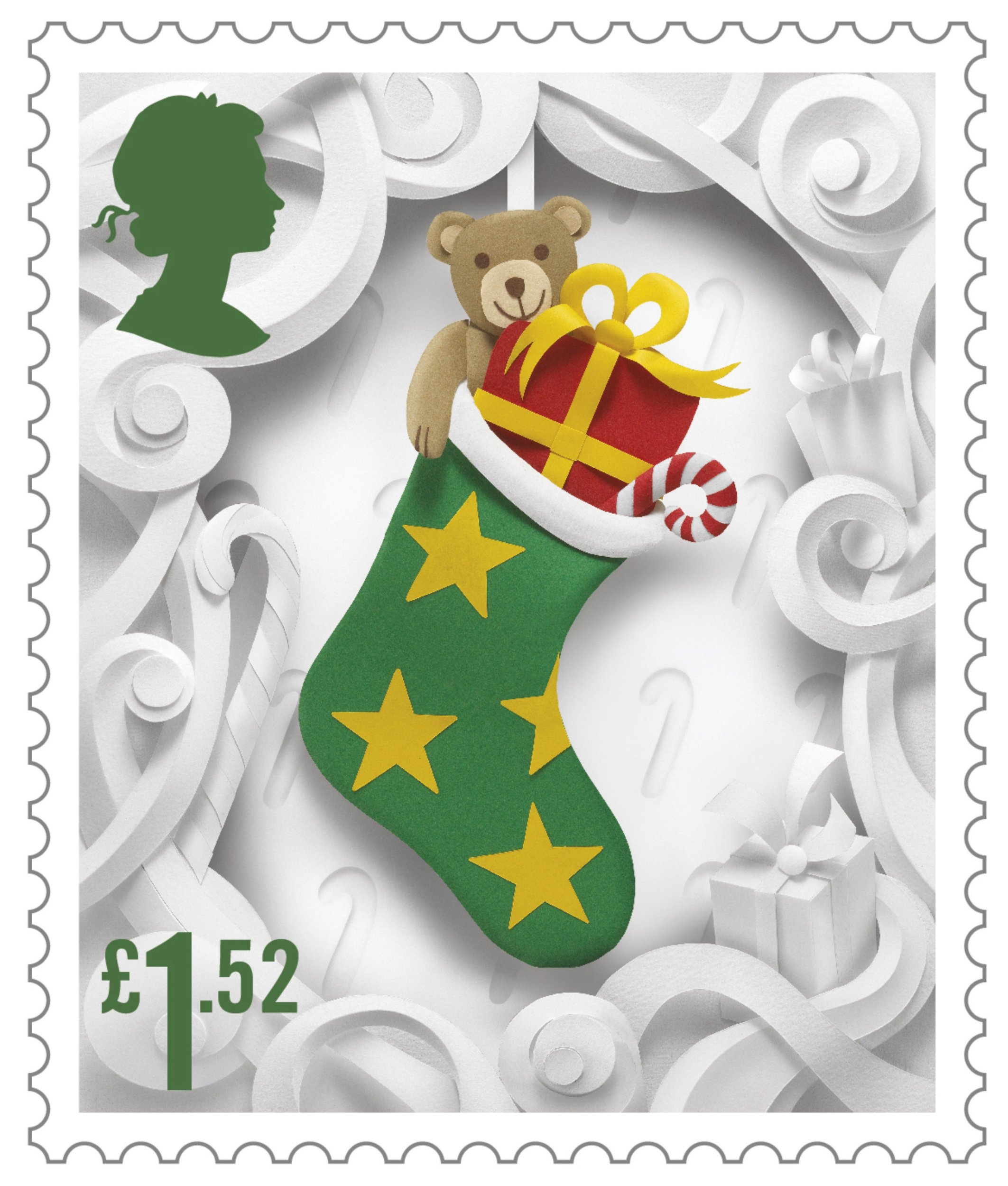 Royal Mail undated handout photo of one of the six 2016 Christmas Special stamps which were crafted by Manchester based artist, Helen Musselwhite, using paper cut-outs which were then photographed. PRESS ASSOCIATION Photo. Issue date: Tuesday November 8, 2016. The stamps are on sale from Tuesday. See PA story CONSUMER Stamps. Photo credit should read: Royal Mail/PA Wire NOTE TO EDITORS: This handout photo may only be used in for editorial reporting purposes for the contemporaneous illustration of events, things or the people in the image or facts mentioned in the caption. Reuse of the picture may require further permission from the copyright holder.