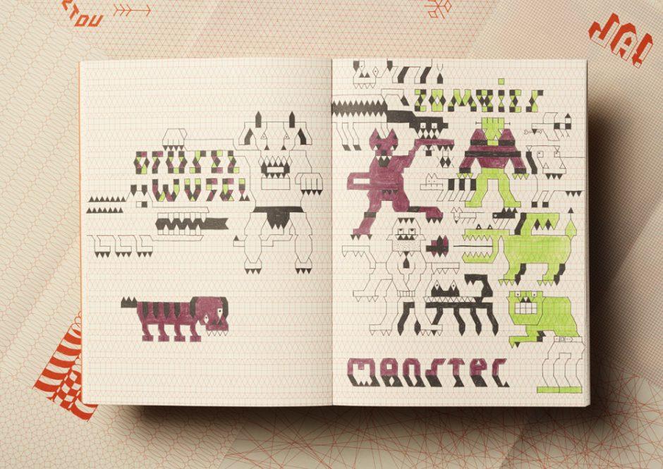 Ungewöhnliches Ausmalbuch mit geometrischen Mustern: »Rasterwelt« von Labor Ateliergemeinschaft, erschienen bei Beltz & Gelberg