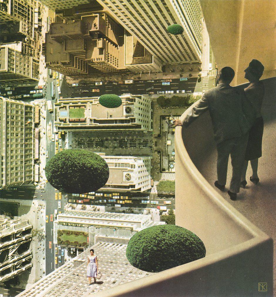 Guggenheim Shrubberies: Handgemachte Collage 2013