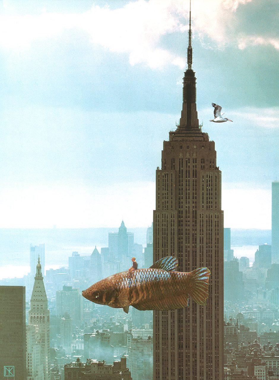 I dream about New York: Handgemachte Collage 2015