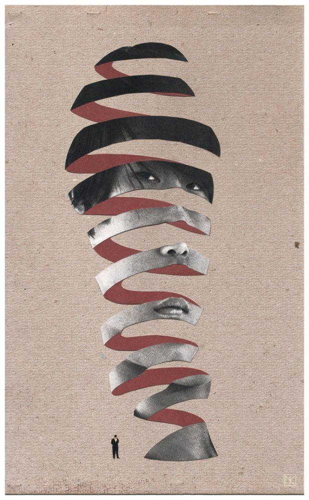 Imaginary Sculpture: Handgemachte Collage 2016