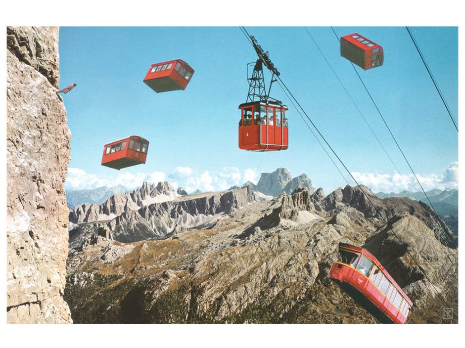 Ordinary day at the cableway: Handgemachte Collage 2015