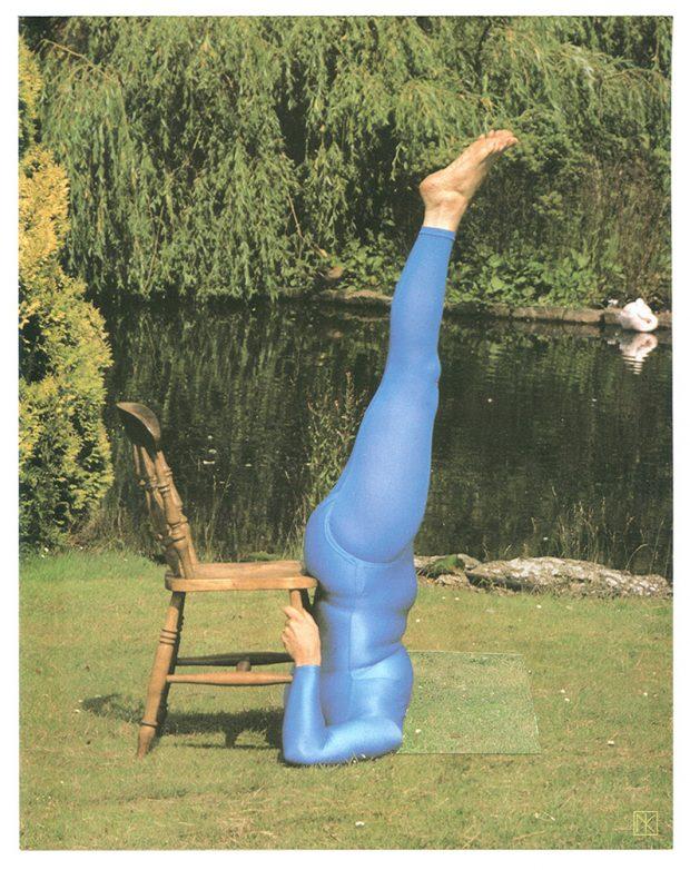 Scary Yoga: Handgemachte Collage 2016