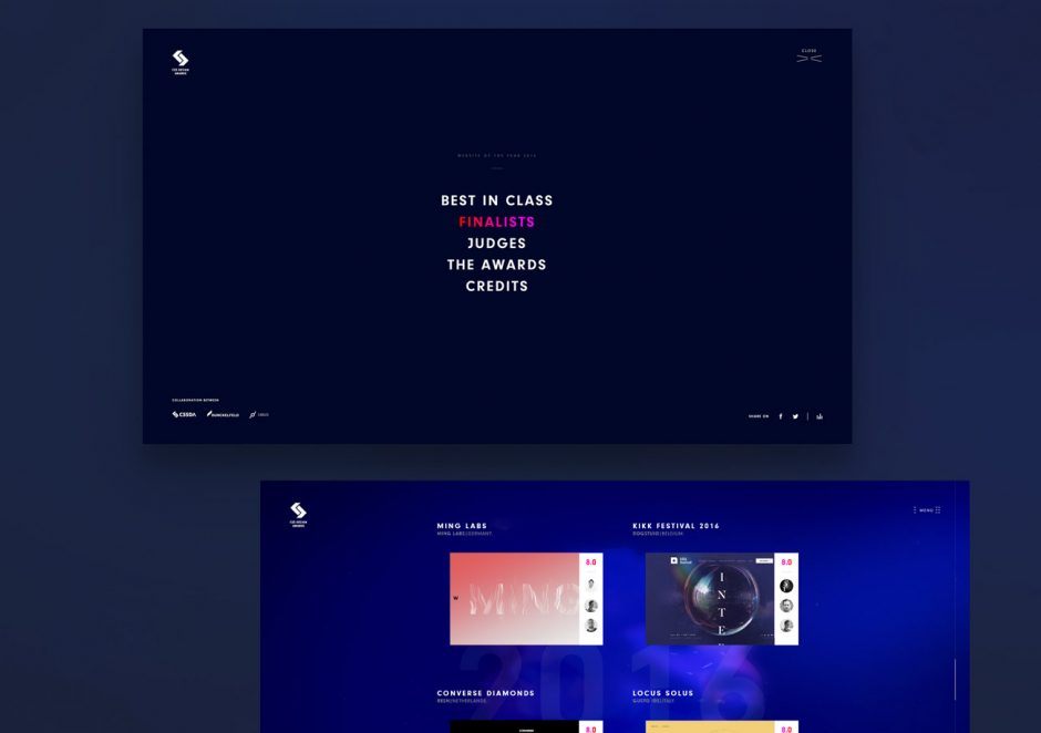 Microsite »Website of the Year«