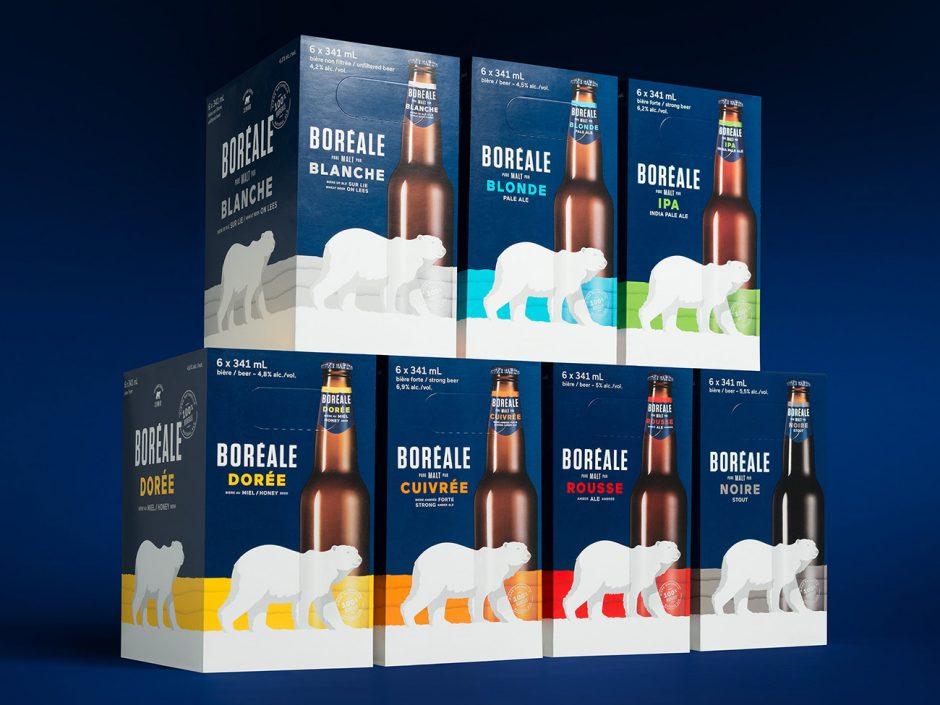 Packaging: Kartons für die verschiedenen Sorten