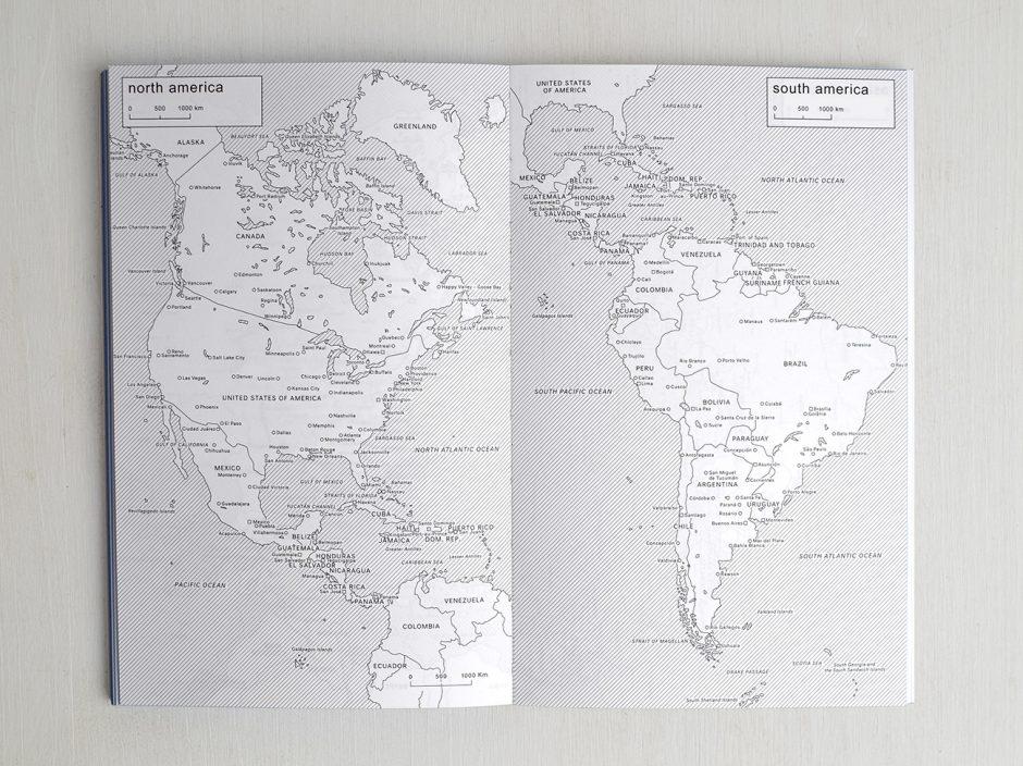 Innenansicht - Weltkarte