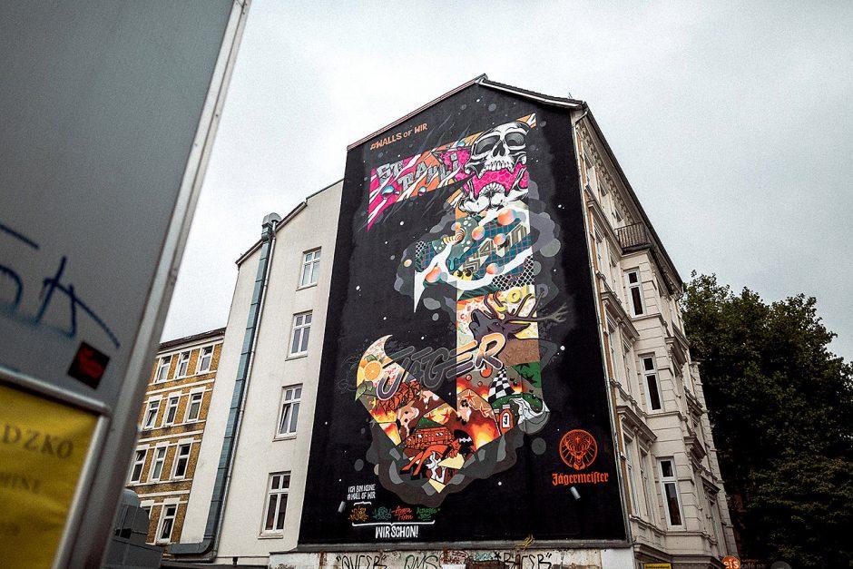 Die erste #wallsofwir entstand in Hamburg auf der Detlev-Bremer-Straße 55 in St. Pauli.