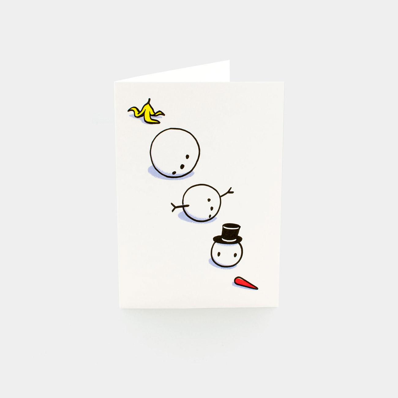 Grußkarte: Snowman