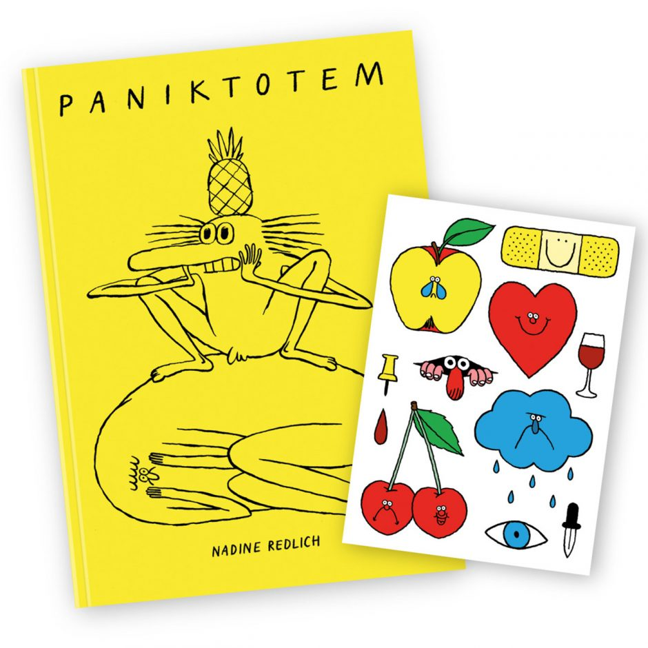 Buch und temporäre Tatoos