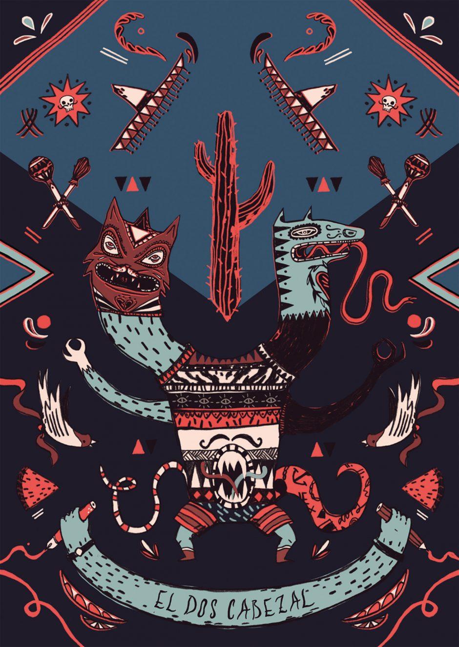 Postkarte »Lucha Libre« Comicfestival Hamburg